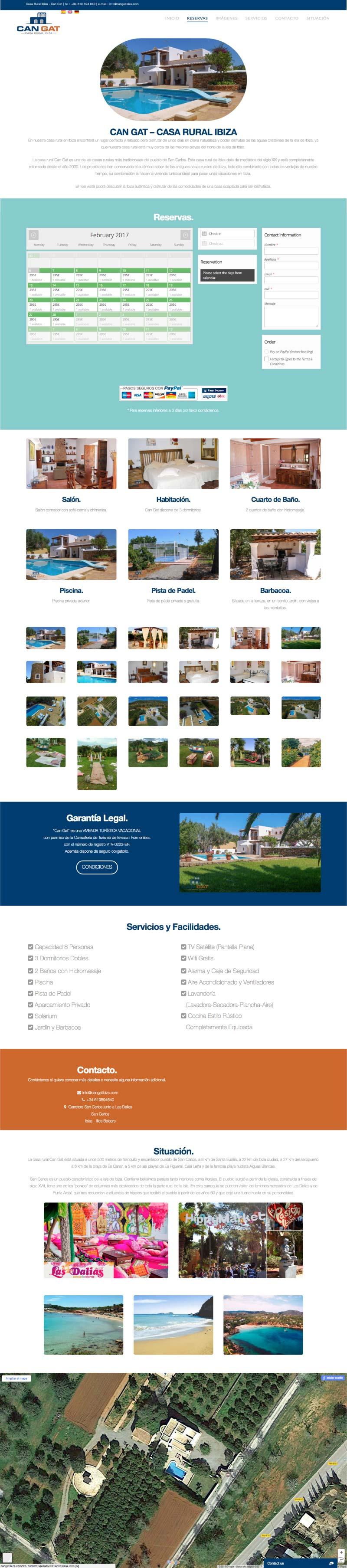 Vista completa de la web de Can Gat Ibiza